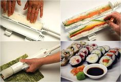 $18 Finally Sushi Lovers! You can now make restaurant-quality sushi at home! The innovative Sushi Bazookais very easy to use, simply fill the tube with rice and add your favorite ingredients, then plunge the rice right through the tube onto a nori sheet, Voila, the perfect sushi maki! Great aid for large dinners, it will have your guests coming back for more perfectly formed sushi.