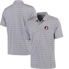NCAA Florida State Seminoles Interbay Melange Stripe Polo
