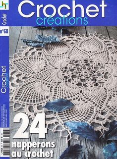 "Photo from album ""Crochet Creations on Yandex. Knitting Books, Crochet Books, Crochet Home, Thread Crochet, Crochet Doilies, Crochet Round, Cute Crochet, Beautiful Crochet, Vintage Crochet"
