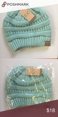 C.C. Beanie. - Brand new. - Mint color. - 🚫trades. - PRICE FIRM unless bundled. - Reasonable offers on bundles considered. - Lowball offers will be ignored. Accessories Hats