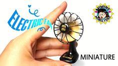 """미니어쳐 바람이 솔솔~ """"진짜 선풍기"""" 만들기 (on, off ㅇㅋ) Miniature DIY - Real Electric fan..."""