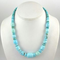 "Posted as ""Carico Lake Turquoise Necklace"" by Noah Pfeffer. This stone could be from several different mines."