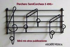 perchero musical pentagrama, artesanal, muy original!!!