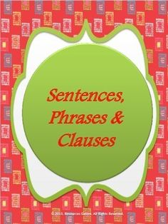This resource first describes the main types of sentences, clauses and phrases with examples.Then three different worksheets are provided with answers for students to learn and master their skills in the usage of English language.  This product includes following ppt slides: - Types of sentences (simple, compound and complex) - Types of Clauses - main and dependent clauses, noun, adverb and adjective clauses  and worksheets on identifying the following:  - Types of sentences - Types of ...