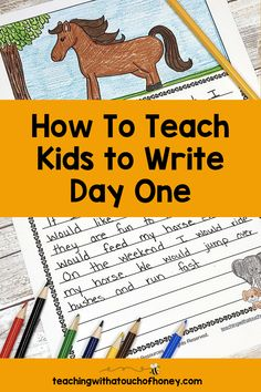 Get your kids writing with fun, engaging activities. These ideas are perfect if you are a parent trying to get your child to write at home or a teacher working in the classroom or through distance learning, Writing Lesson Plans, Writing Lessons, Kids Writing, Teaching Writing, Writing Activities, Teaching Kids, How To Run Faster, How To Get, How To Plan