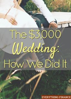 How one couple pulled together a wedding for $3,000. Lots of helpful money saving wedding tips. A must-read if you're planning a wedding.Repinned by mikebdjmc mbeventdjs.com #weddingdj