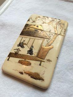 Japanese Meiji Period Shibayama Card Case