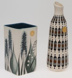 VASER , 2st, keramik, Kupittaan Savi, Finland. Ceramics & Porcelain - European – Auctionet Nordic Design, Scandinavian Design, Finland, Yellow Pattern, Royal Copenhagen, Glass Birds, Vintage Ceramic, Decorative Objects, Ceramic Pottery
