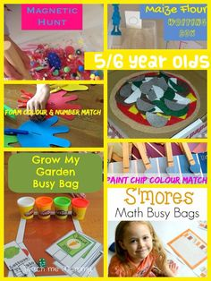 We continue with our Virtual Busy Bag Exchange Series! Here are busy bag ideas for keeping FIVE to SIX year olds entertained! Smores Busy Bag by Life Over C's Pizza Building Busy Bag by Kelly's Classroom Grow my garden Busy Bag by threefootcooks Paint Swatch Colour Match Busy Bag and Foam Colour and Number Match …