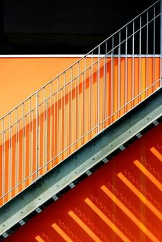 Eric Forey. Orange & stairs