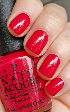 Dutch tulips - always a favorite Red Manicure, Opi Nails, Opi Red Nail Polish, Tulip Nails, Opi Nail Colors, Garra, Nail Envy, Beauty Nails, Beauty Makeup