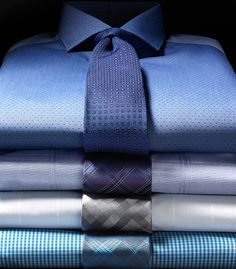 One can never have too many dress shirts and ties.