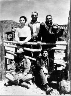 B&W of the main cast of The High Chaparral