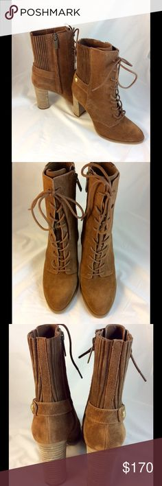 """Michael Kors Boots Leather upper, rubber out sole, man made balance. 3.5"""" heel, 1/4"""" platform. Shaft 6"""" high. Top circumference 10"""".  No box. Boots wrapped in protective materials and shipped in box. Michael Kors Shoes Ankle Boots & Booties"""