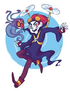 Jack Spicer and Wuya from Xiaolin Showdown!