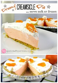 <3 Dreamy Creamsicle Pie! <3   This is the best... serve frozen or soft!!