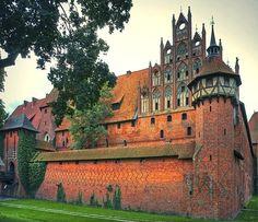 Medieval Castle, Malbork, Poland photo via michelle