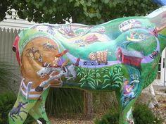 . Deer Family, Lake George, Animal Sculptures, Public Art, Cows, Elk, Vermont, Street Art, Creative
