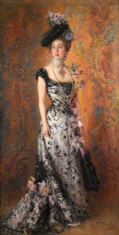 Константин Егорович Маковский (1839-1915)  Портрет жены художника. Мария Алексеевна Маковская