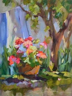 Sun Day in France and Funtober Workshops, painting by artist Dreama Tolle Perry