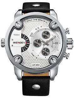 Sale Preis: Alienwork DualTime Quarzuhr Armbanduhr Multi Zeitzonen Uhr XXL Oversized Leder weiss schwarz OS.WH-3301-2. Gutscheine & Coole Geschenke für Frauen, Männer und Freunde. Kaufen bei http://coolegeschenkideen.de/alienwork-dualtime-quarzuhr-armbanduhr-multi-zeitzonen-uhr-xxl-oversized-leder-weiss-schwarz-os-wh-3301-2