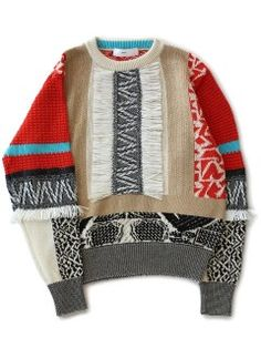 Mix Jacquard Knit Pullover (mix)