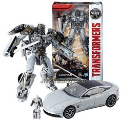 Year 2016 Transformers The Last Knight Movie Premier Edition Series Deluxe Class Inch Tall Figure - Intrepid Protector COGMAN with Sword and Titan Master (Vehicle Mode: Aston Martin Transformers Action Figures, Transformers Robots, Super Trailer, Aston Martin Db11, Transformers Collection, Last Knights, Wrangler Shirts, Thundercats, Year 2016