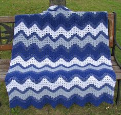 Ravelry: RuthieJ's Ripple Afghan.