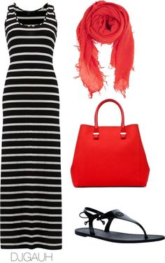 """Black White & Red"" by djgauh ❤ liked on Polyvore"