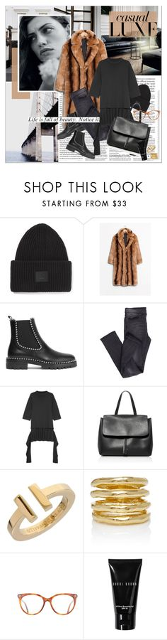 """""""Casual Chic"""" by stylemeup-649 ❤ liked on Polyvore featuring BYRON, Acne Studios, Alexander Wang, Cheap Monday, Balenciaga, Mansur Gavriel, Tiffany & Co., Wasson, Gucci and Bobbi Brown Cosmetics"""