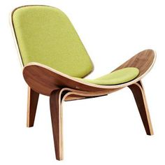 Nyekoncept Shell Fabric Armless Chair Avocado Green - 224432-D, Durable