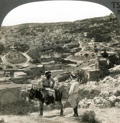 Nazareth, Palestine, C1920 (the open field, oval in shape, is the Mohammedan cemetery).