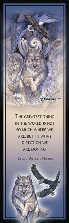 """Wolves / The Power of a Dream"" par Jody Bergsma --- The greatest thing in the world is not so much where we are, but in what direction we are moving (Olivier Wendell Holmes) Wolf Spirit, My Spirit Animal, Animal Sculptures, Lion Sculpture, Wolf Quotes, Wolf Love, Wolf Pictures, She Wolf, Beautiful Wolves"