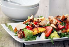 Balsamic Chicken & Summer Salad by asweetsimplelife #Salad #Chicken #asweetsimplelife