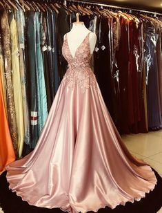 Gorgeous A-line V-neck Appliques Top Hot Selling Long Prom Dress,Cheap Prom Dress,Sexy Party Dress,Formal Dress Prom Dresses Two Piece, Grad Dresses, Cheap Prom Dresses, Evening Dresses, Formal Dresses, Wedding Dresses, Long Dresses, Maxi Dresses, Sexy Party Dress