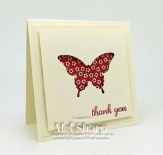 Mariposa Butterfly Gifts, Butterfly Cards, Card Making Inspiration, Making Ideas, Cadeau Design, Stamping Up Cards, Small Cards, Cool Cards, Easy Cards