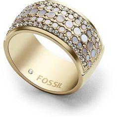 Fossil Vintage Glitz Crystal Ring Jf026047105.5