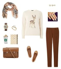 """""""🍂 Classy Monday 🍂"""" by huda-navaid on Polyvore featuring Dorothy Perkins, Uniqlo, Burberry, Tory Burch, ASOS, Lord & Taylor, TARA Pearls, The Cambridge Satchel Company and Kate Spade"""