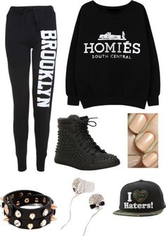 """""Swag"" Outfit"" by fashionlandia ❤ Hip Hop Fashion, Cute Fashion, Urban Fashion, Teen Fashion, Winter Fashion, Womens Fashion, Hip Hop Outfits, Swag Outfits, Dope Outfits"