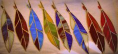 Parrot Stained Glass Feather Suncatcher Made to Order by LotusLabs