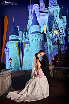 One of my weddings featured on the Disney blog. Check out the sky they had on their wedding day!! Cinderella Castle at Magic Kingdom