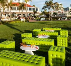 Everything was set up on the beautiful beach-frontWindsor Lawnspace at Hotel del Coronado.