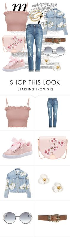 """""""Lazy Daisy"""" by sianthewlisd on Polyvore featuring Whiteley, KUT from the Kloth, Puma, Ted Baker, Rebecca Taylor, Fendi, Alberta Ferretti and Ippolita #pinkoutfit #tedbaker #puma #springoutfit #summeroutfit"""