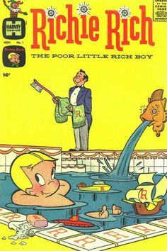 Harvey Comics - Nov No 1 - The Pooer Little Rich Boy - Pool - Child