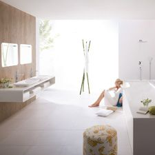 PuraVida bathroom sleek and easy to clean look!  @hansgroveUSA  #bathroomdreams