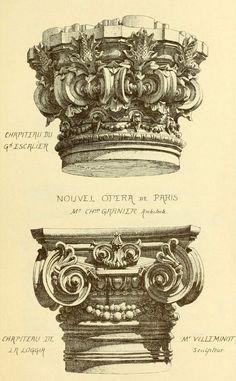 Capital designs for Garnier's Opera House, Paris