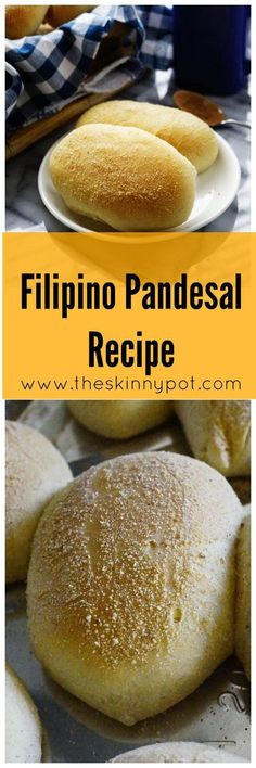 Filipino Pandesal Recipe that Actually Tastes Like Pandesal.when I went to the Philippines I was addicted to these things 😍 Filipino Desserts, Filipino Recipes, Lumpia Recipe Filipino, Pinoy Food Filipino Dishes, Cuban Recipes, Vegetarian Recipes, Bread Recipes, Baking Recipes, Dessert Recipes