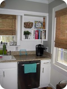 Kitchen - open cabinets