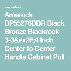Amerock BP55276BBR Black Bronze Blackrock 3-3/4 Inch Center to Center Handle Cabinet Pull