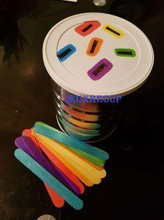 Kids Crafts, Toddler Crafts, Preschool Crafts, Crafts For 2 Year Olds, Preschool Colors, Summer Crafts, Preschool Learning Activities, Baby Learning, Infant Activities